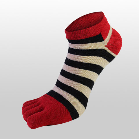 Colorful Striped Five Finger Toe Sock