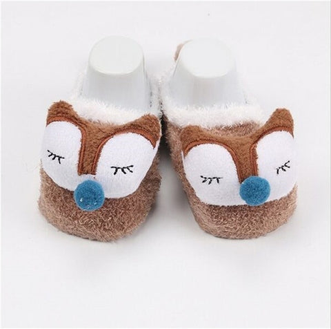 Image of Cute Newborn Fleece Fox Baby Socks by SayItWithSocks.co