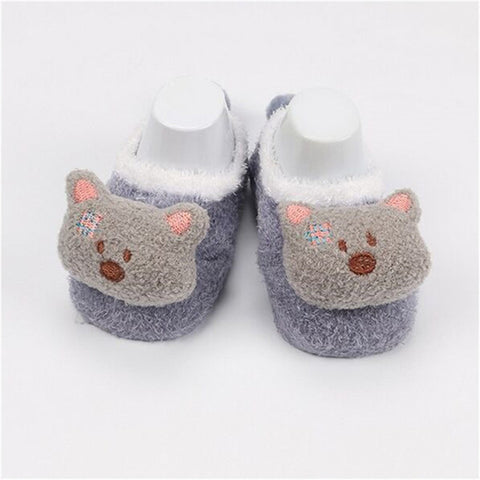 Cute Newborn Fleece Fox Baby Socks by SayItWithSocks.co