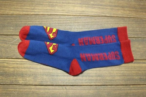 Cool Super Heroes Comics Kid's Crew Socks