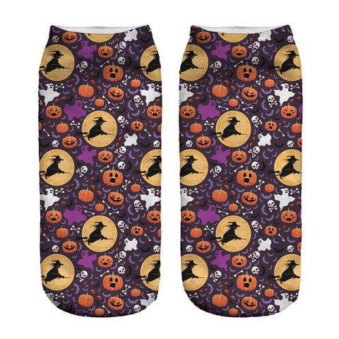 Funny Halloween 3D Print Women's Ankle Socks by SayItWithSocks.co