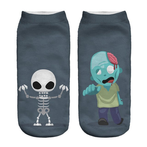 Image of Funny Halloween 3D Print Women's Socks by SayItWithSocks.coFunny Halloween 3D Print Women's Ankle Socks by SayItWithSocks.co