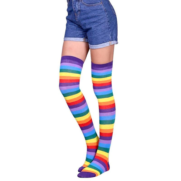 Colorful Rainbow Women's Knee High Socks by SayItWithSocks.co