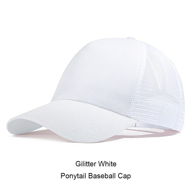 Casual Ponytail Women's Baseball Cap by SayItWithSocks.co