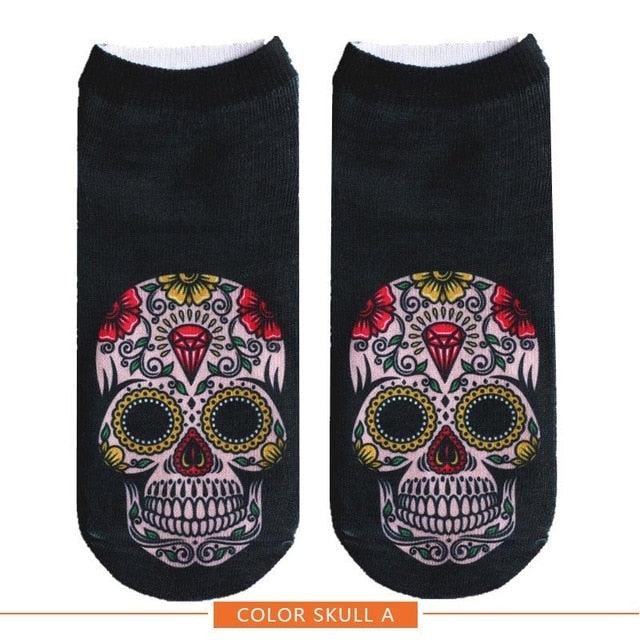 Cool Happy Halloween Ankle Socks by SayItWithSocks.co