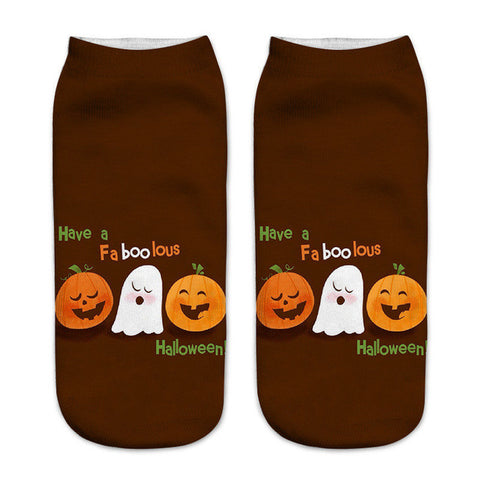 Image of Cool Happy Halloween Ankle Socks by SayItWithSocks.co