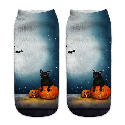 Fuzzy 3D Printed Halloween Socks by SayItWithSocks.co