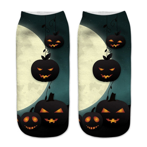 Image of Fuzzy 3D Printed Halloween Socks