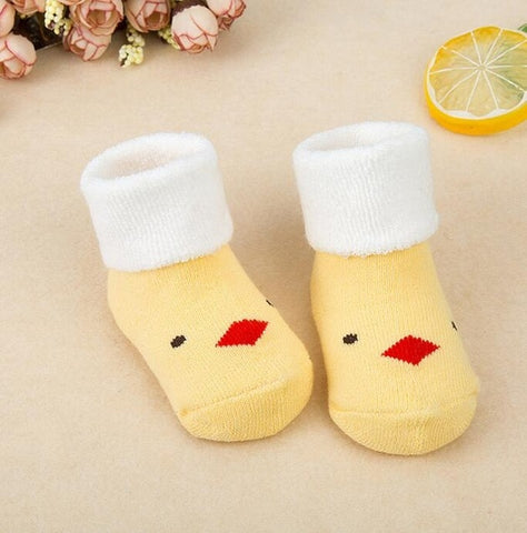 Image of Striped Newborn Warm Baby Socks Slippers