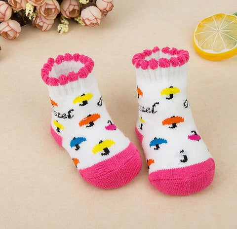 Striped Newborn Warm Baby Socks Slippers
