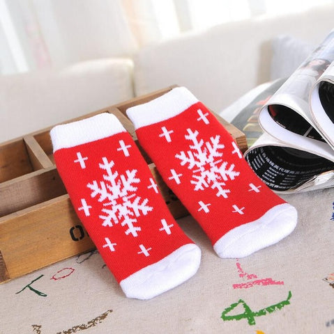 Image of Cute Santa Claus Christmas Kids Ankle Socks by SayItWithSocks.co