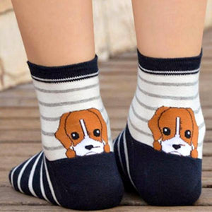 Lovely Puppy Women's Ankle Socks by SayItWithSocks.co