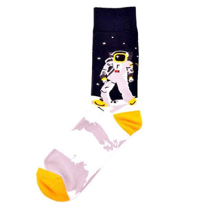Cool Astronaut and Rocket Socks by SayItWithSocks.co