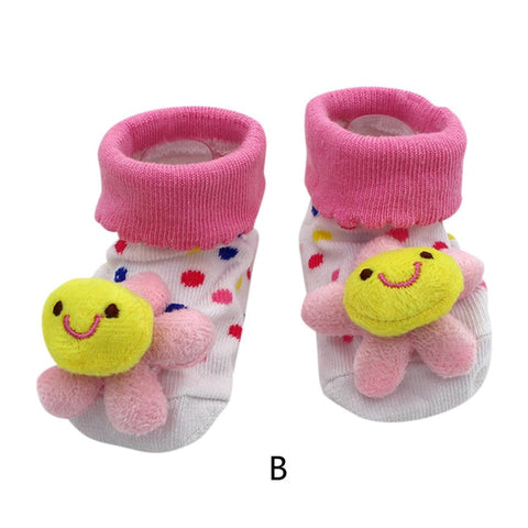 Image of Cute Cartoon Anti-Slip Baby Socks