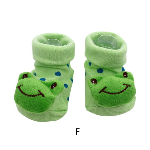 Cute Cartoon Anti-Slip Baby Socks by SayItWithSocks.co