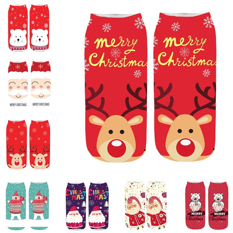 Image of Crazy Colorful Christmas Ankle Socks by SayItWithSocks.co