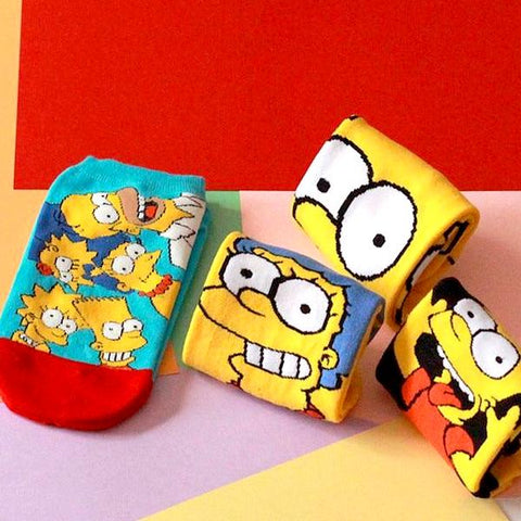 Image of Cute Simpsons Family Cartoon Socks by SayItWithSocks.co