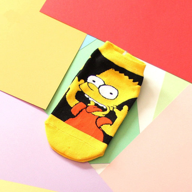 Cute Simpsons Family Cartoon Socks by SayItWithSocks.co