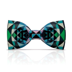 Funny Green Plaid Patterned Bow Tie by SayItWithSocks.co