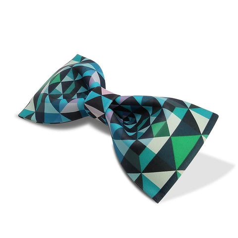 Funny Green Plaid Patterned Bow Tie