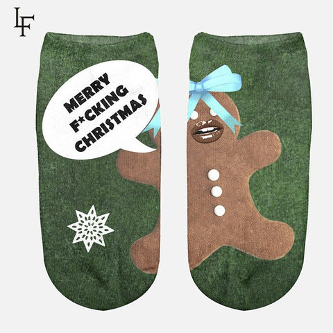Image of Cute Novelty Christmas Ankle Socks