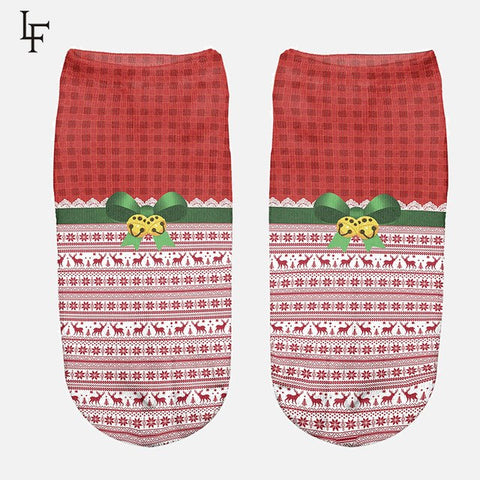 Cute Novelty Christmas Ankle Socks by SayItWithSocks.co