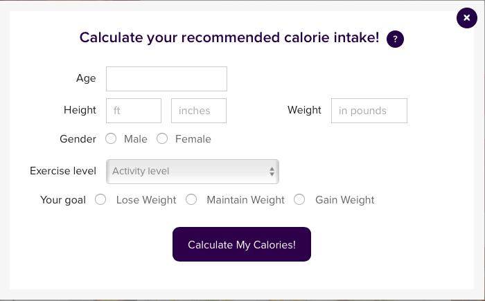 Why Use The Calorie Counter?