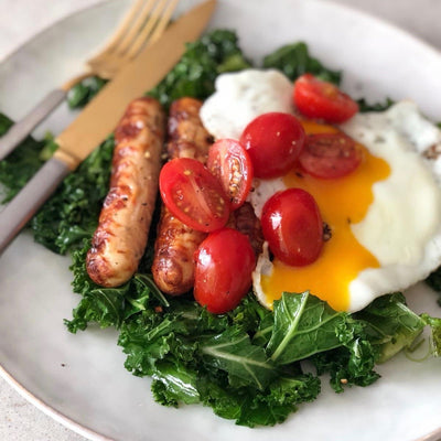 Chicken Sausages and Kale