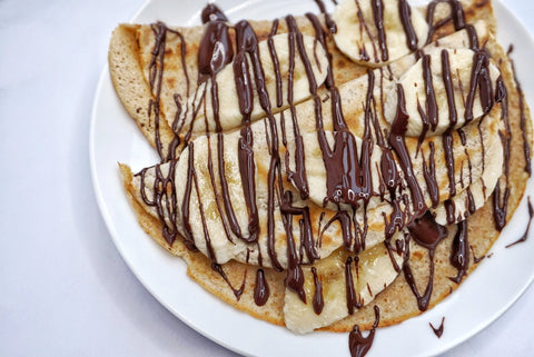 Dark Chocolate And Banana Crepes