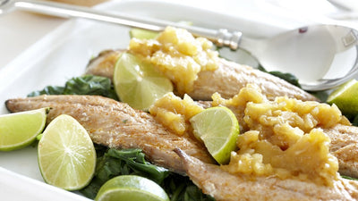 Grilled Mackerel Fillets with Apple Chutney