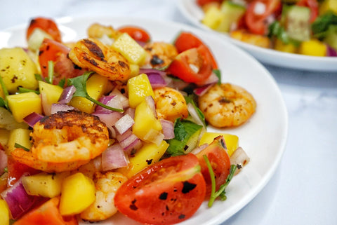 Grilled Prawn Salad