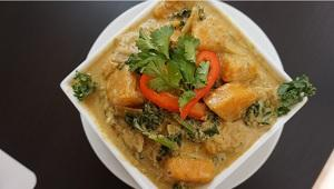 Kale and Sweet Potato Curry