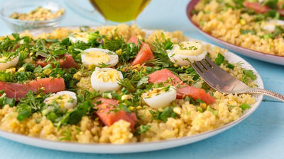 Kedgeree with Cod, Tomatoes and Sliced Egg