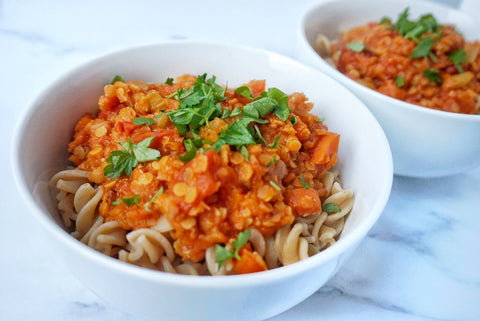 Lentil Ragu With Wholemeal Pasta