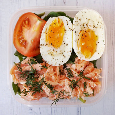 Salmon and Egg Protein Pots