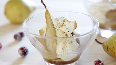 Spiced Warm Pears with Yogurt