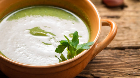 Spinach, Leek and Garlic Soup