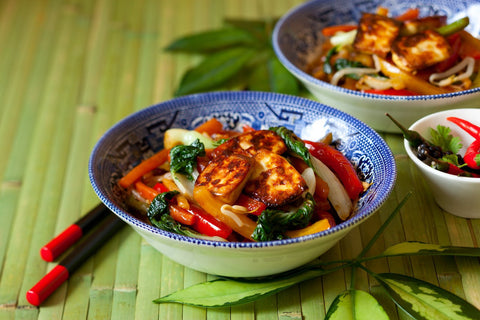 Tofu Stir Fry with Lemon and Thyme Pak Choi