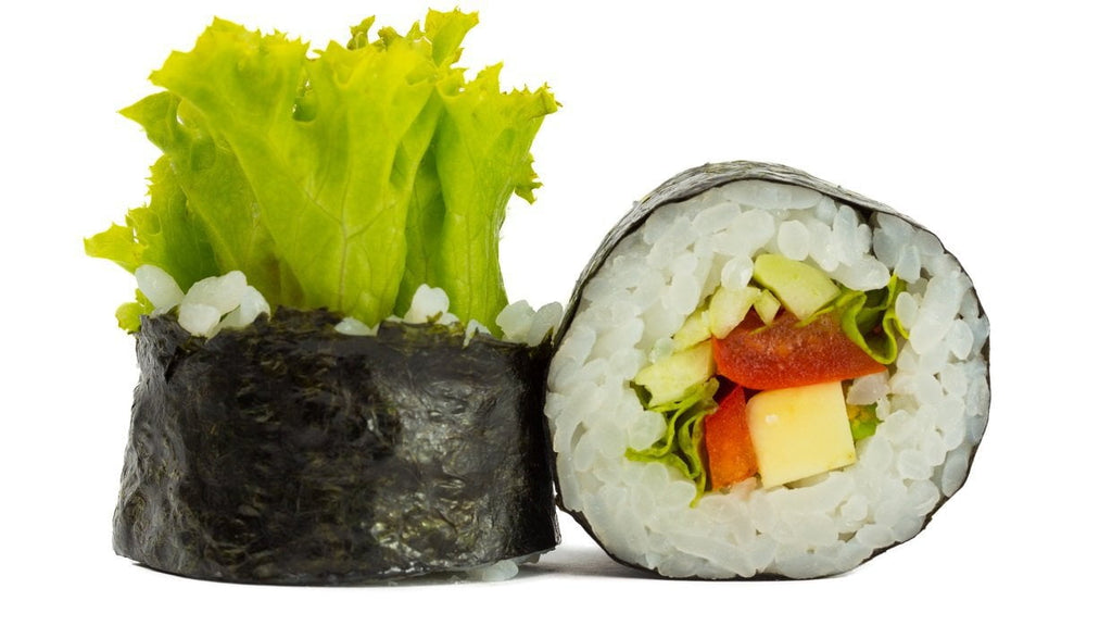 Vegetable and Cashew Nori Rolls