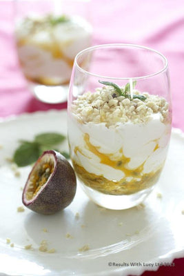 Yogurt with Passion Fruit and Macadamia Nuts