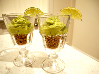 Lime and Avocado Cheesecake Pots