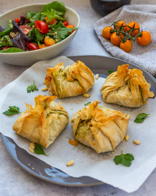 Pesto & Goats Cheese Filo Parcels