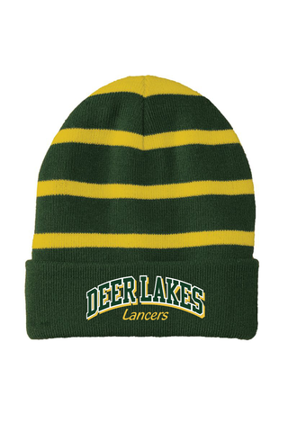 Deer Lakes Striped Beanie