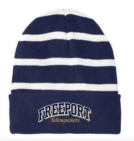 Freeport Striped Beanie