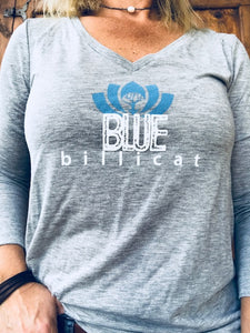Blue Billicat Grey Long Sleeve Tee