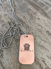 Journey Beyond the Path Dog Tag Necklace