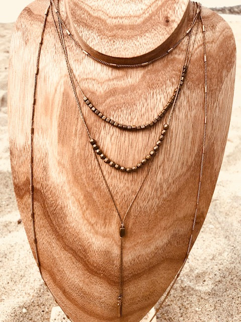Bronzed Gold BOHO Necklace