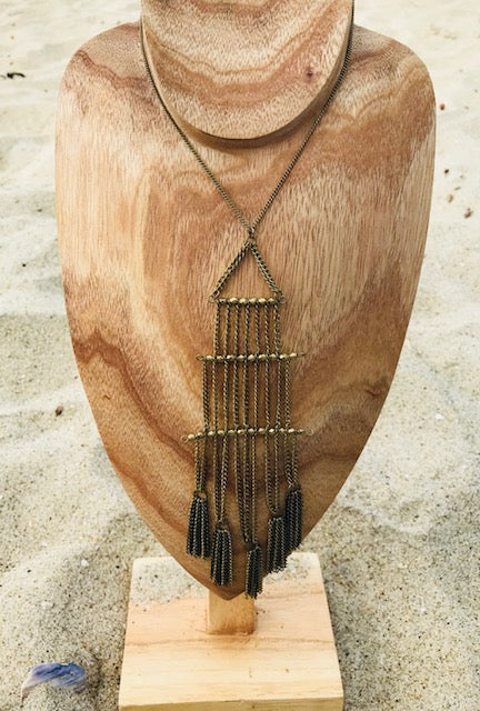 Gold Tiered Waterfall Necklace