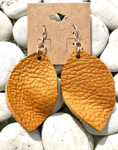 Leather Skimboard Earrings