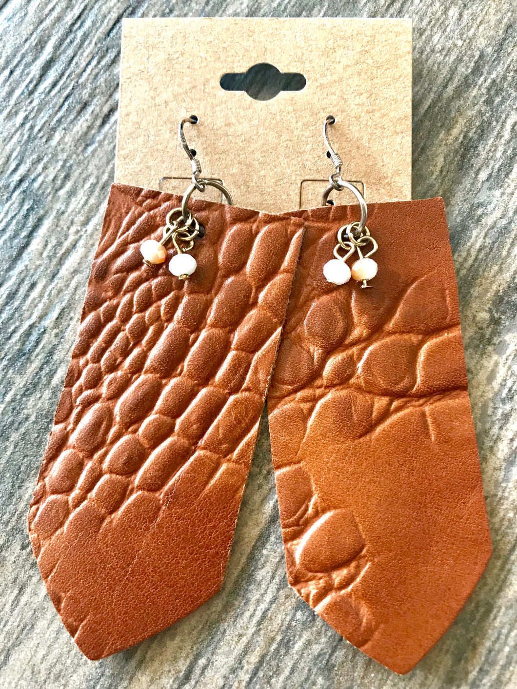 Leather Sail Earrings